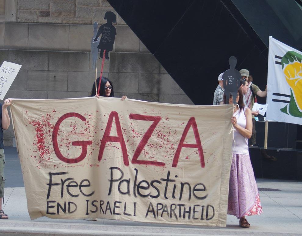 Gaza. Free Palestine. End Israeli Apartheid