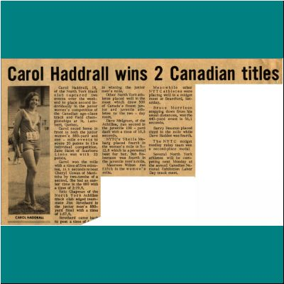 Carol Haddrall Wins Two Canadian Titles