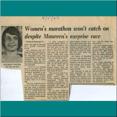 Womens Marathon won't catch on