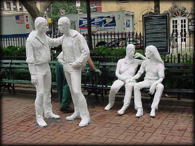 Gay liberation statues.