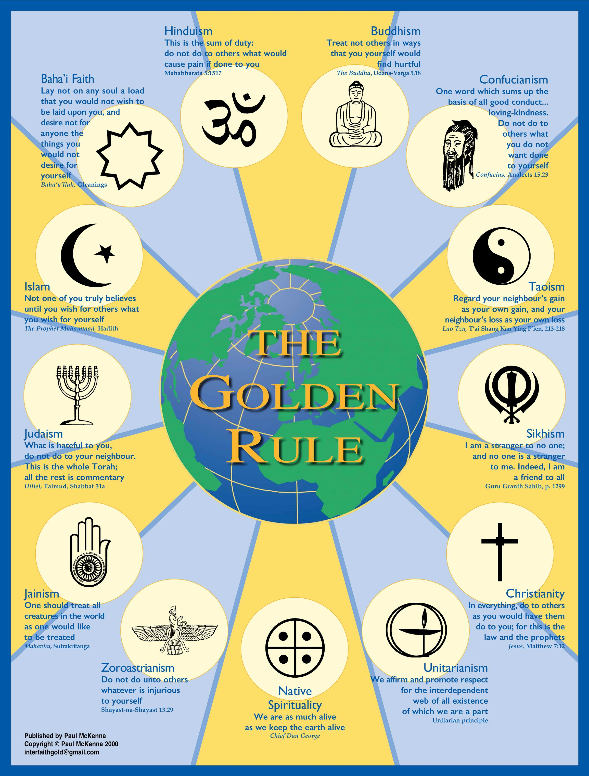 Golden Rule poster by Paul McKenna.
