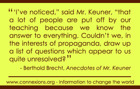 Brecht: Herr Keuner: Questions