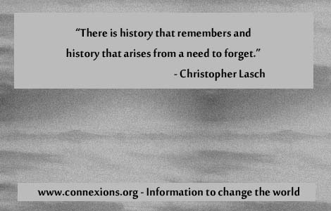 Christopher Lasch there is a history that remembers