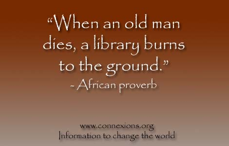 When an old man dies a library burns to the ground