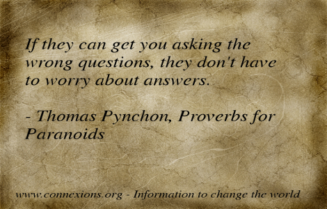 Pynchon: asking the wrong questions