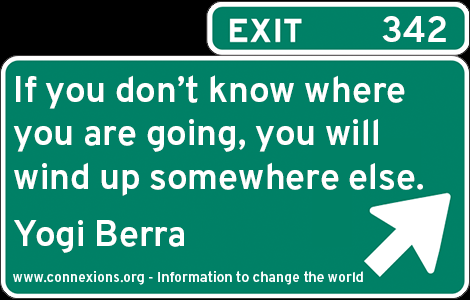 Yogi Berra: If you don't know where you are going