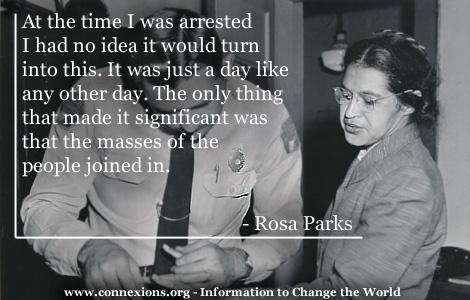 Connexions Quotations Rosa Parks