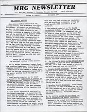 Medical Reform Newsletter November 1984