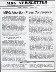 Medical Reform Newsletter January 1985