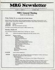 Medical Reform Newsletter October 1986