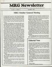 Medical Reform Newsletter December 1986
