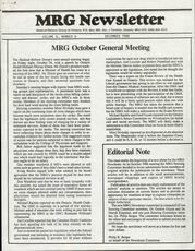 Medical Reform Newsletter December 1986