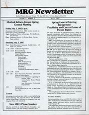 Medical Reform Newsletter April 1987