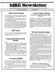 Medical Reform Newsletter October 1987