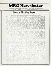 Medical Reform Newsletter October-November 1987