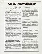 Medical Reform Newsletter December 1987
