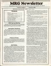 Medical Reform Newsletter February 1988