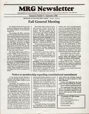 Medical Reform Newsletter September 1988