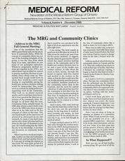 Medical Reform Newsletter December 1988