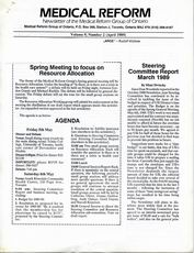 Medical Reform Newsletter April 1989