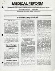 Medical Reform Newsletter June 1989
