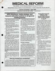 Medical Reform Newsletter April 1990