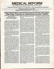 Medical Reform Newsletter July 1990