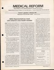 Medical Reform Newsletter February 1991
