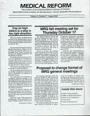 Medical Reform Newsletter August 1991