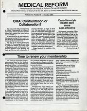 Medical Reform Newsletter October 1991