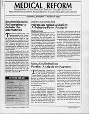 Medical Reform Newsletter November 1992