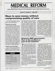 Medical Reform Newsletter May 1993