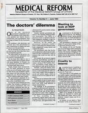 Medical Reform Newsletter June 1993