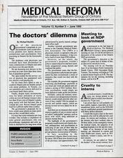 Medical Reform Newsletter June 1993