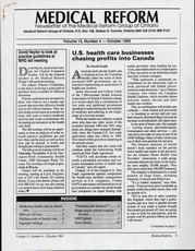 Medical Reform Newsletter October 1993