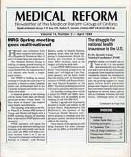 Medical Reform Newsletter April 1994