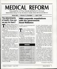 Medical Reform Newsletter April 1995
